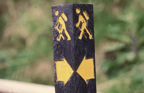 Walking trail sign.